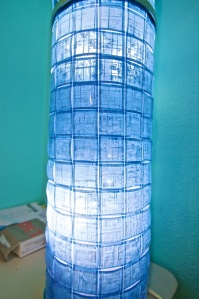Ikea Hack: DIY Microfilm Lamp
